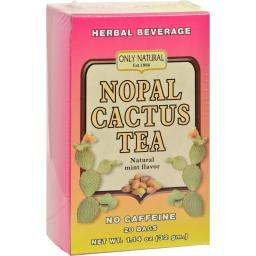 Only Natural Nopal Cactus Tea Caffeine Free Natural Mint - 20 Tea Bags