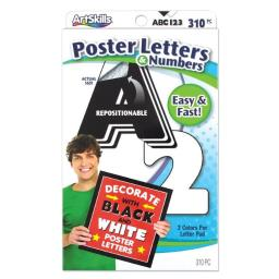 Artskills PA-1442 Poster Letters & Numbers, Black & White