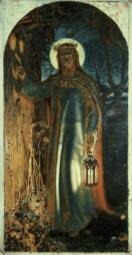 Jesus, Light of the World , 1854, William Holman Hunt , Oil on canvas , Keble College, Oxford, England Poster Print