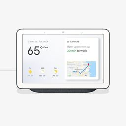 """Google Home Hub 7"""" Touchscreen Smart Display Personal Assistant - Charcoal"""