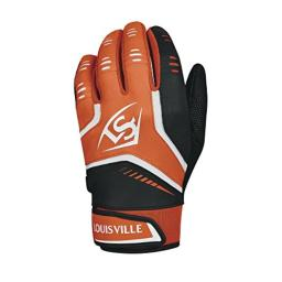 Louisville Slugger Omaha Adult Batting Gloves - Medium, Orange