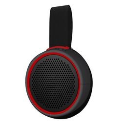 Braven 105 Wireless Portable Bluetooth Speaker [Waterproof][Outdoor][8 Hour Playtime] with Action Mount/Stand - Gray/Red