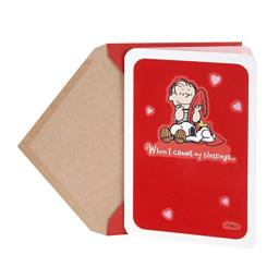 Hallmark Peanuts Valentine's Day Card (Linus, Snoopy, and Woodstock Blessings)