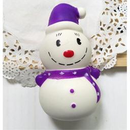Gelaiken Cartoon Snowman Squishy Slow Rising Squeeze Toys Gifts for Kids Adult Purple