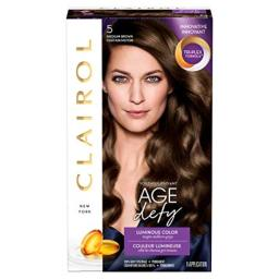 Clairol Age Defy Permanent Hair Color, 5 Medium Brown, 1 Count