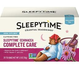 Celestial Seasonings Wellness Tea, Sleepytime Echinacea Complete Care, 20 Count Box (Pack Of 6)