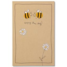 Bee-day Birthday Card