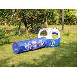 UNIQUELY Castle Play Tent with Crawl Tunnel Carrying Case Train Kids Pop Up Play Tent and Tunnel