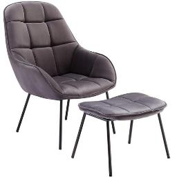 Lounge Sofa Chair with Ottoman