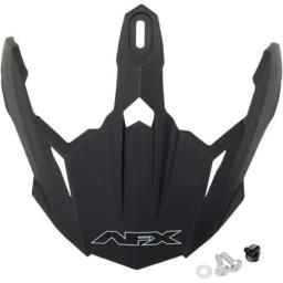 AFX Helmet Peak with Screws for FX39 and FX-39DS Dual Sport - Flat Black 0132-0573