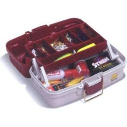 1 Tray Tackle Box w/Dual Top Access Red Met/Off White