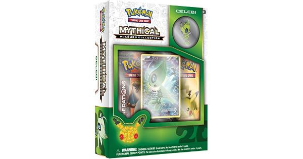 Pokemon Mythical Pokemon Collection - Celebi Trading Card Game Now Celebi Is at Your Command! Rare and mysterious Mythical Pokemon arrive when they choose-and disappear just as quickly! Step forward into a new level of play with the Pokemon TCG: Mythical Pokemon Collection-Celebi.