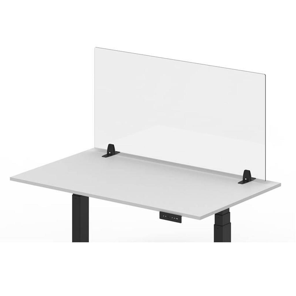 """Offex Clear Desktop Panel, Freestanding Protective Acrylic Shield and Sneeze Guard, Portable Desk Divider for Desks and Tabletops - Perfect for Offices, Schools, Libraries and more, 3 Pack (48"""" x 24"""")"""