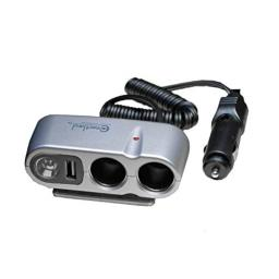 Connectland CL-CAR-U2SOC Car Charger for Android, Smartphones, Apple, Windows Phone - Retail Packaging - Grey