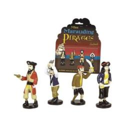 Accoutrements Mini Marauding Pirates Figures - 4 on Card