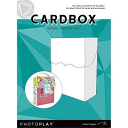 Photoplay Paper PPP9453 Photoplay A2 Cardbox W/3 Cards & Envelopes-White