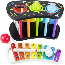 Imagination Generation Space Adventure Pound & Tap Bench with Slide Out Xylophone