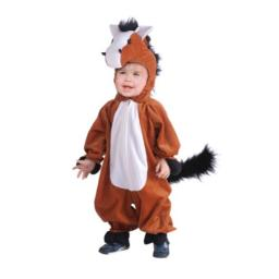 Forum Novelties Unisex Child Horse Costume - Includes a Jumpsuit with Attached Hood - Medium Size, Brown