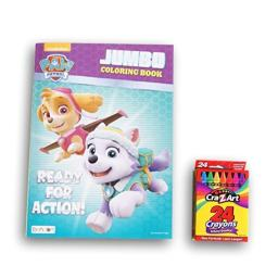 Girls Paw Patrol Ready for Action Jumbo Coloring and Activity Book with Crayons