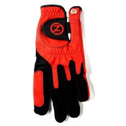 Zero Friction Men's Golf Gloves, Right Hand, One Size, Red
