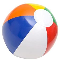 """Inflatable 12"""" Rainbow Color Beach Balls (12 Pack) - Colors Varied"""