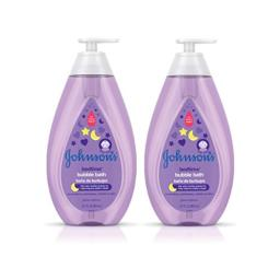 Johnson's Hypoallergenic Bedtime Baby Bubble Bath Wash with NaturalCalm Aromas, Twin Pack, 2 x 27.1 fl. oz