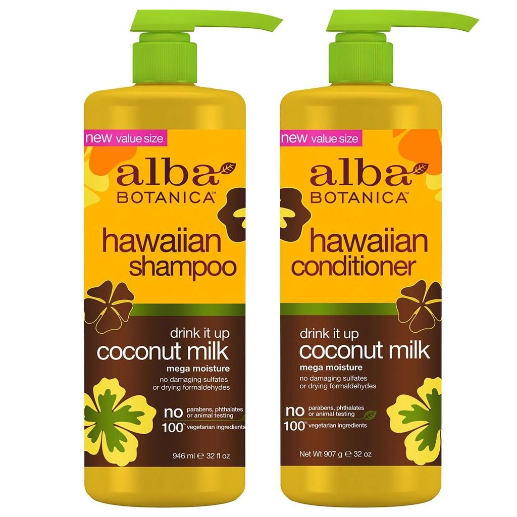 Alba Botanica Hawaiian Drink It Up Coconut Milk Shampoo and Conditioner