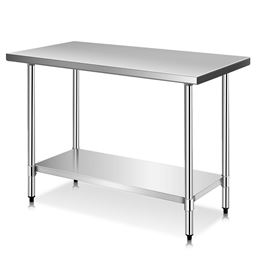 """24 x 48"""" x 36"""" Stainless Steel Food Prep Table"""""""