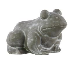 Urban Trends Cement Charcoal Sitting Frog Decorative Figurine in Concrete Finish - Gray