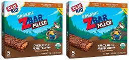 Clif Kid Organic Z Bar Filled Chocolate Peanut Butter 2 Box Pack