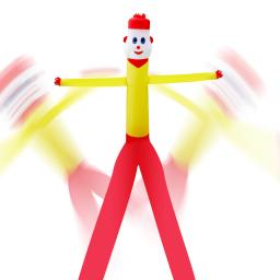 ARKSEN 30ft Inflatable Advertising 2-Legged Air Puppet Wind Dancer Tube Man (Blower Not Included)