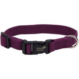 "Coastal Soy 3/4"" Adjustable Dog Collar-Eggplant, Neck Size 12""-18"""