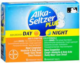 Alka-seltzer Plus Day & Night Multi-symptom Cold Formula Effervescent Tablets - 20 Ct, Pack Of 2