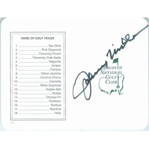 Autograph Warehouse 466701 Johnny Miller Autographed Score Card Augusta National Masters, PGA Golf Champion