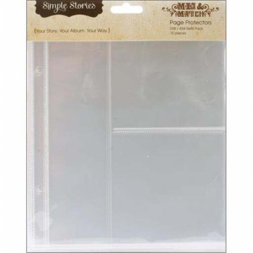 Mix and Match Sheet Protectors 10-Pkg-2x8 and 4x4