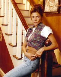 Paige Turco Posed in Blue Jeans Photo Print GLP476463