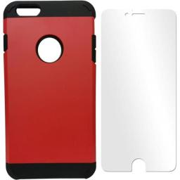 AIA CIP6RD 4.7 in.Dual Hard Hybrid Case for iPhone 6, Red