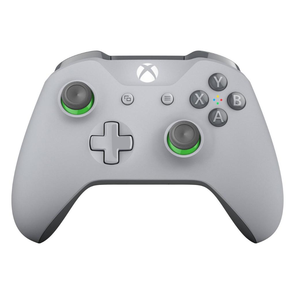 Xbox One S Wireless Microsoft Controller with Bluetooth Gray/Green WL3-00060