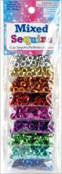 Mixed Sequins 3g 9/Pkg-Assorted Cups 665890