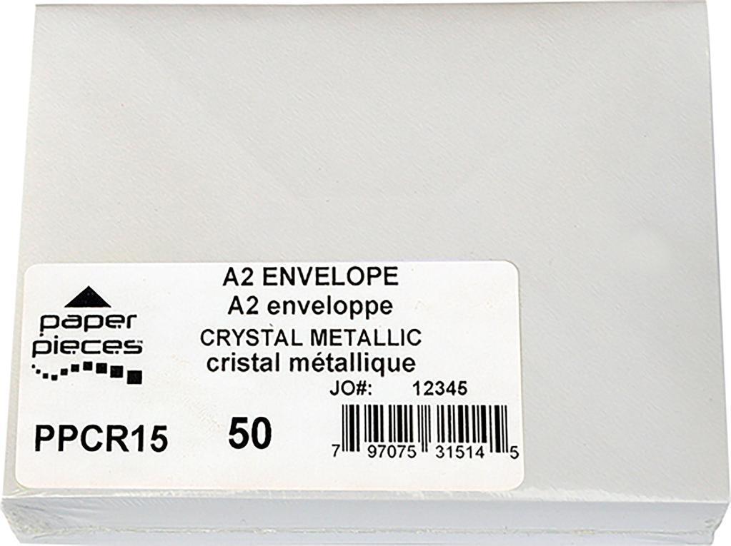 A2 Metallic Envelopes 50/Pkg-Crystal