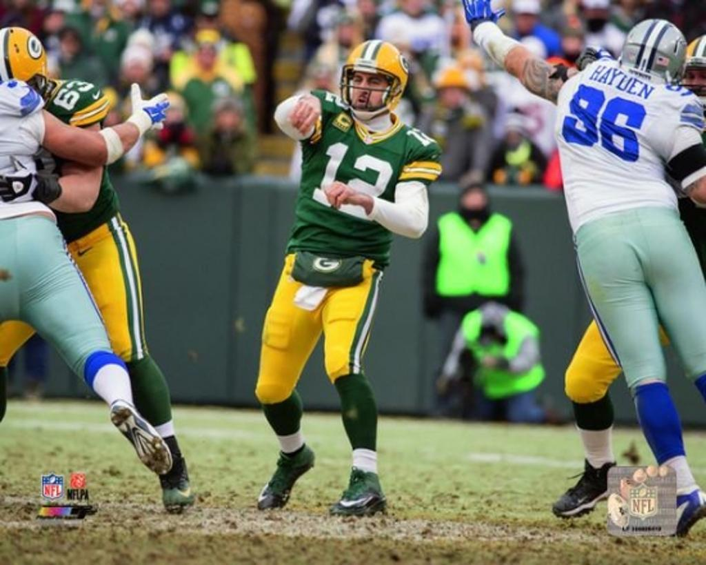 Aaron Rodgers 2014 Playoff Action Photo Print