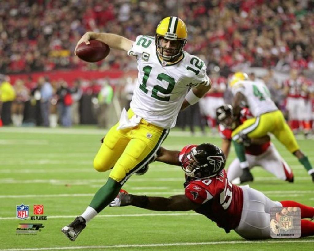 Aaron Rodgers 2010 Playoff Action Photo Print