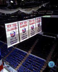 New York Islanders' Stanley Cup Championship Banners Photo Print PFSAAHL15301