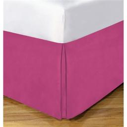 Lux Hotel FRE23614PINK01 14 in. Basic Microfiber Bedskirt, Pink - Twin