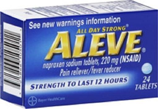 Aleve Tablets All Day Strong Pain Reliever