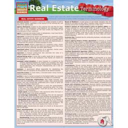BarCharts 9781423216667 Real Estate Terminology Quickstudy Easel