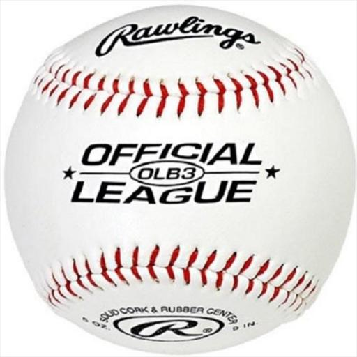 Rawlings Sporting Goods Rawlings Baseball Official League 9 in. Solid Cork & Rubber Center 5 Oz