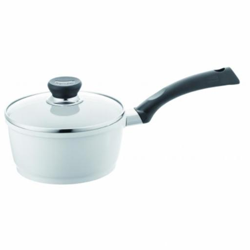 Berndes 697603 SignoCast Pearl Ceramic Coated Cast Aluminum 2 Quart Covered Saucepan