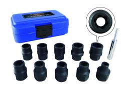Astro 7411m astro  tool 7411m 11 piece 1/2in dr metric flank bite damaged fastener impact sockets
