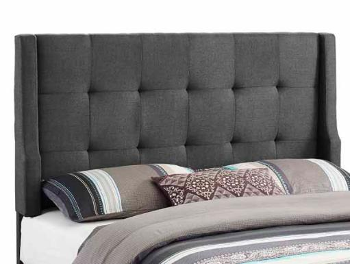 Linon Luxe Headboard Full/Queen Size-Charcoal